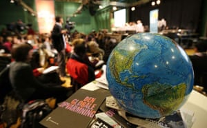 Copenhagen day 5: COP15 A globe  on a table during the Klimaforum09
