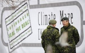 Copenhagen day 5: COP15 Members of Denmark's territorial army