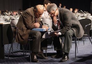 Copenhagen diary: COP15 Delegates talk to each other prior to a plenary session