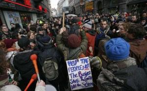 Copenhagen diary: COP15 Demonstrators attend protest march in central Copenhagen