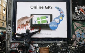 Copenhagen diary: COP15 Demonstrator during protest march in central Copenhagen