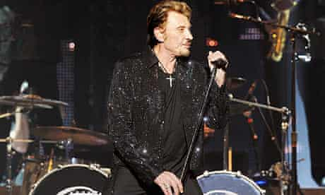 Johnny Hallyday performing in Saint Etienne earlier this year.