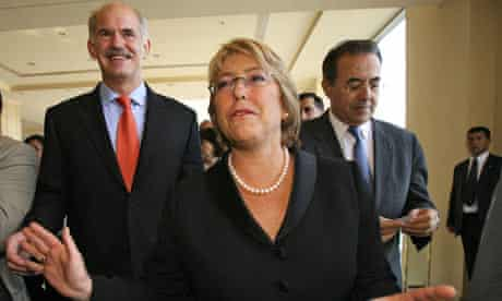 The president of Chile, Michelle Bachelet