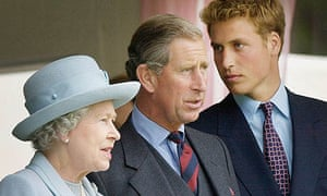 The Queen, Prince Charles and Prince William