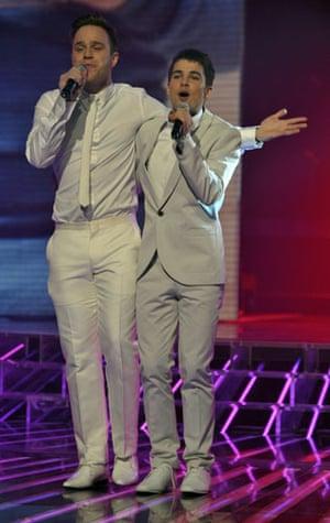 X-Factor final: Olly Murs and Joe Mcelderry