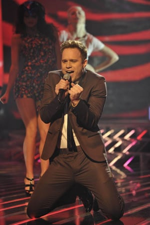 X-Factor final: Olly Murs performs during the final
