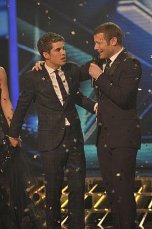 X-Factor final: Joe Mcelderry and Dermot O'Leary