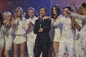 X-Factor final: Joe Mcelderry with the X-Factor contestants