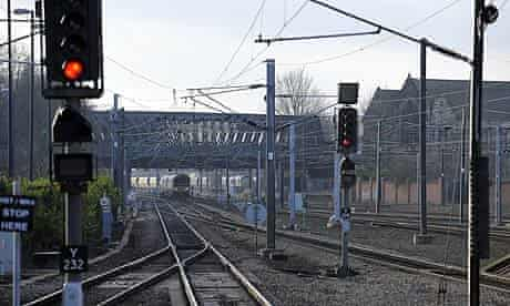 Railway signals and tracks