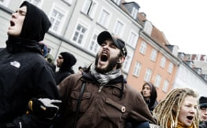 Copenhagen diary: COP15 Environment activists from Climate No Borders during a demonstration