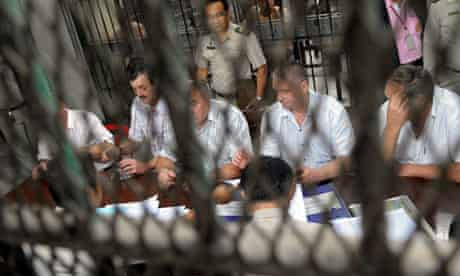 Crew from the detained cargo plane in the custody of  Thai authorities