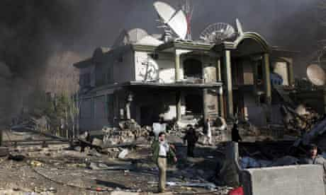 Site of a bomb blast in Kabul