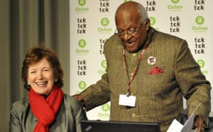 Drought in North Kenya: COP15 : Archbishop Desmond Tutu with former Irish President Mary Robinson