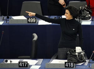 Rachida Dati: Rachida Dati takes part in a voting session
