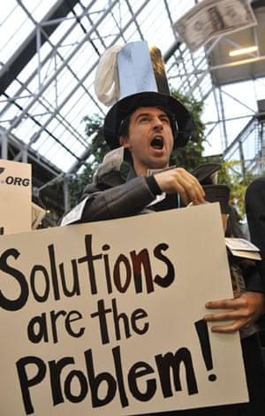"copenhagen daily: COP15 An environmental activist of the organisation ""Follow The Oil Money"""
