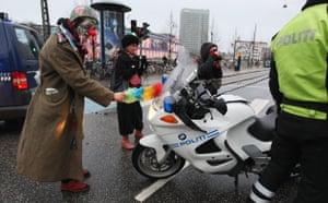 copenhagen daily: COP15 Environmental activists hold a demonstration