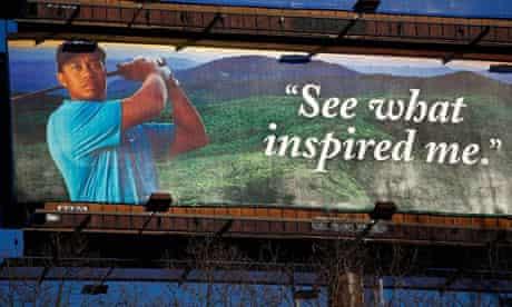 Tiger Woods advertising billboard, North Carolina