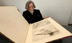 Stephen Calloway with rediscovered edition of Gillray's 'Suppressed Plates'