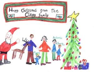 christmas cards: Liberal Democrat leader Nick Clegg's Christmas card 2009