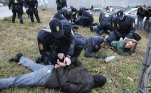 COP15 Reclaim Power: Reclaim Power activists demonstrate near the Bella Center in Copenhagen