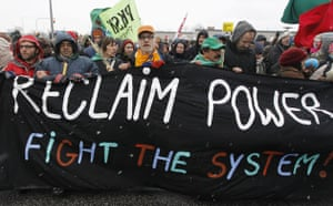 COP15 Reclaim Power: Protestors march towards the Bella Center during a demonstration