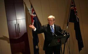 who is in Copenhagen: COP15 Australia's Prime Minister Rudd