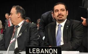 who is in Copenhagen: COP15 Lebanese Prime Minister Saad Hariri