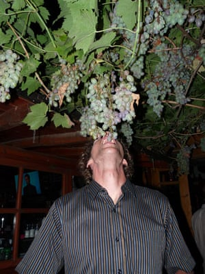 Been there photos: Man eating grapes