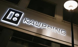 A branch of Iceland's Kaupthing Bank in Reykjavik