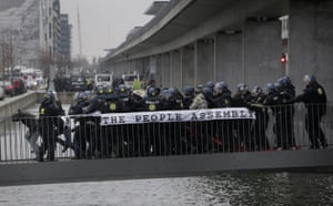 COP15 Reclaim power: Danish riot police scuffle with a group of demonstrators