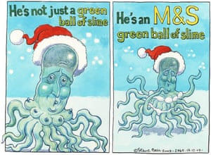 17.12.09: Steve Bell on David Cameron's pledge to form green partnership with Marks & Spencer
