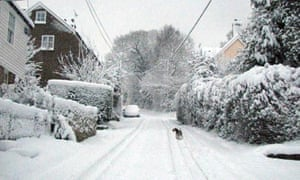 Heavy snow in Marden's Hill in East Sussex