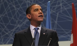 Barack Obama speaks at the Copenhagen summit