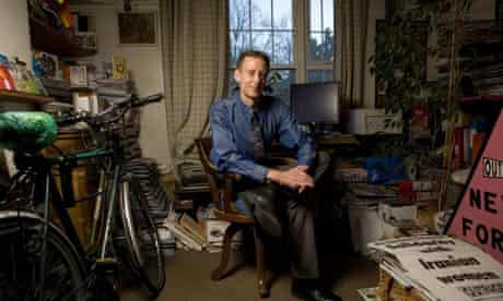 Peter Tatchell photographed at his home in Elephant and Castle, London