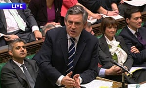 Gordon Brown during Prime Ministers questions Wednesday 2 December 2009