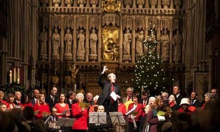 Midday Christmas carol service at Southwark Cathedral