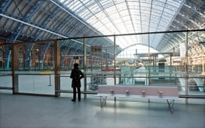 Eurostar delays: A passenger looks at the empty platforms at St Pancras