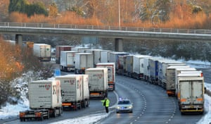 Eurostar delays: Freight traffic is held on the M20 motorway