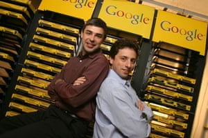 Icons of the decade: Google co-founders Larry Page (left) and Sergey Brin