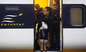 Eurostar train in St Pancras International