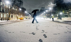 travel chaos: Britain Prepares for more Snow