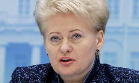 Dalia Grybauskaite, the Lithuanian president