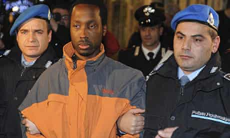 Rudy Guede leaves court after his appeal hearing