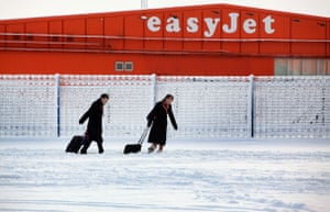 Travel chaos: Easyjet cabin crew at Luton airport