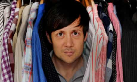 patrick barkham in his wardrobe