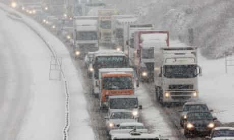 Adverse Weather Causes Travel Chaos During The Christmas Getaway
