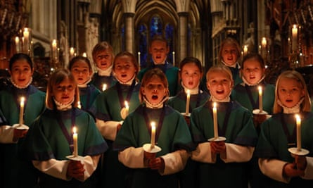Choristers Prepare For Christmas At Salisbury Cathedral