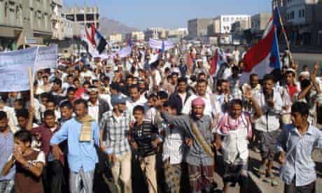 yemeni protest against al-qaida raids