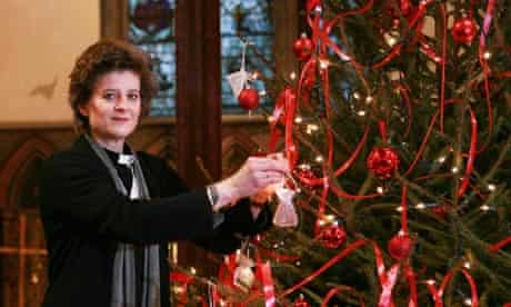 Rev Margreet Armistead at Christmas