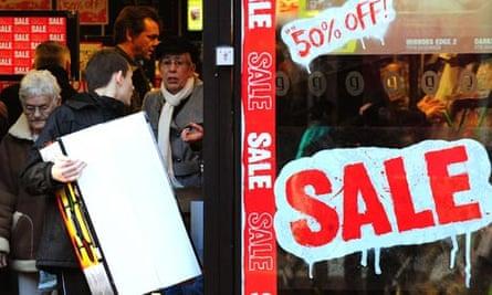 Christmas sales in Derby